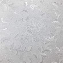 Roses Pattern Window Film Privacy No Residue Peel And Stick Indoor Outdoor Decorative Home Bathroom Shower Living Room Business Office Meeting Room Glass Door Film Decoration .3, 35 x 78