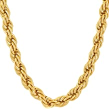 6e50ae3cf Lifetime Jewelry Gold Chain for Men & Women [ 7mm Rope Chain ] Up to 20X  More 24k Real Gold Plating Than Other Gold Chains - Durable Mens .