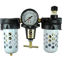 1//2-Inch Pipe Size and Lubricator Trio Assembly Coilhose Pneumatics 8884AAG Heavy Duty Series Filter Regulator