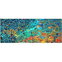 Kess InHouse Suzanne Carter Aqua Wave Multicolor Abstract Table Runner