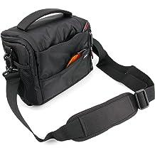 DURAGADGET Durable Shoulder Sling Bag in Black /& Orange Compatible with Sony RX0 Action Cam