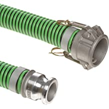 25 Length 2-1//2 ID Unisource 250 Red PVC Discharge Hose Assembly 150 PSI Maximum Pressure 2-1//2 Aluminum Kamlock C//E Connection