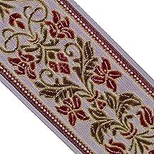 Neotrims Natural Jute Black Jacquard Paisley Trimming Decoration Ribbon Craft