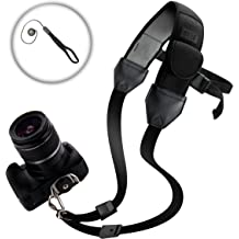 WB2200F and More Protective DLSR Camera Shoulder Neck Strap with Neoprene Padding and Accessory Pockets by USA Gear NX1 Works with Samsung NX500