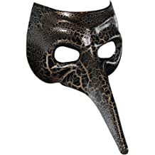 Barhalk Unisex Scary Creepy Half Face Animal Witch Mask Villain Costume Masquerade Party Ball Halloween Mardi Gras Wall Props Decoration
