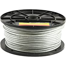 Vinyl Coated Stainless Steel Wire Cable 7x7 Construction,200 Feet,720 lbs Breaking Strength 3//32 Coated to 1//8 Diameter