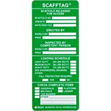 7-5//8 Width Vinyl Brady FLT-ETSI51 5-3//4 Height 7-5//8 Width Blue And Yellow Color Forkliftag Inserts Pack Of 100