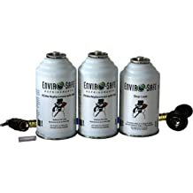 2 R134a Replacement Cans with Dye Kit with R134 Tap Gauge Enviro-Safe #RG-3