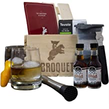 Personalized Wood and Steel Bottle Opener Great Gifts for Men Man Crates Personalized Barware Crate Includes 4 Laser-Etched Pint Glasses LetterpressStyles of Beer Coasters