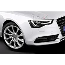 BOLLAER Car Styling S Line Sline Emblem Stickers 2 Pcs S-LINE Car Stickers for Audi A2 A3 A4 A6 A6L A8 A7 Q3 Q5 Q7 RS3 RS5 RS7 Series Logo