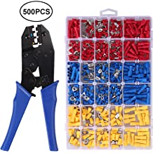 CAMWAY Ferrule Crimper Plier//Wire Stripper /& 1200pcs Connectors Terminal Crimp Tool Kit Crimper Plier Wire Terminal Small DIY Projects Solderless Electrical Repairs