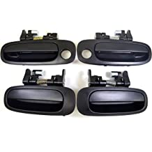 PT Auto Warehouse GM-3903A-FL Outside Exterior Outer Door Handle Textured Black Driver Side Front