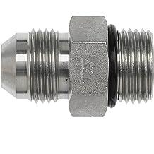 1//4 Tube O.D 0.500 Hex 0.250 Width Brennan Industries 2408-04-B Brass Male JIC Tube Fitting Threaded Plug 7//16-20 SAE Thread 0.800 Length