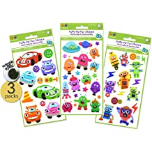 3 Rolls Eye Stickers Colorful Eye Nose Mouth Cartoon Stickers Eyeball Stickers Labels for Easter Decor Style A Children Art Craft DIY Scrapbook Water Bottle