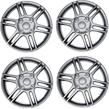 TuningPros WC-14-226-S 14-Inches-Silver Improved Hubcaps Wheel Skin Cover Set of 4
