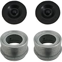 Grease Caps with Rubber Inserts for EZ Lube Spindle The ROP Shop 2.72 Diameter Pack of 2