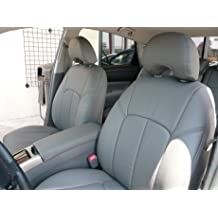 Clazzio 220811blkk Black Leather Front Row Seat Cover for Toyota Tundra Double Cab
