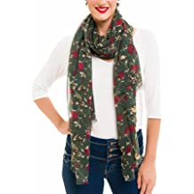 a75eabf706f89 Scarf for Women Lightweight Floral Flower for Summer Fall Scarves Shawl Wrap