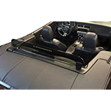 Easy Install Laser-Etched Design 2002-2008 BMW Z4 Convertible Wind Screen Blue Lighting Control air flow Patented Secure Mounting Black Bracket wind noise cut down turbulence
