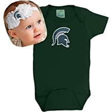 Future Tailgater Michigan State Spartan Baby Bib and Socks Set