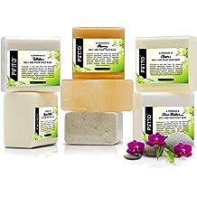 Oatmeal Hemp Seed Oil and Honey SFIC All Natural Glycerin Melt and Pour Soap Base Sampler 6 lb Shea Butter 1 lb Each Goats Milk Aloe Vera