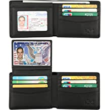 b08c333970bc Wallet for Men-Genuine Leather RFID Blocking Bifold Stylish Wallet With 2 ID  Window