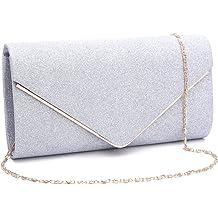 995df462e GESU Womens Shining Envelope Clutch Purses Evening Bag Handbags For Wedding  and Party