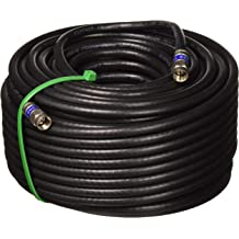 PPC Aqua Seal Compression Connector Assembled in USA by PHAT SATELLITE INTL 25ft Outdoor RG-6 Weather Boot 3GHZ CL2 Quad Shield UL ETL 75 Ohm Satellite TV or Broadband Internet RG6 Coax Cable