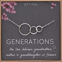 40b681d612764e EFYTAL Generations Necklace for Grandma Gifts - Sterling Silver Mom  Granddaughter Mothers Day Jewelry Birthday Gift