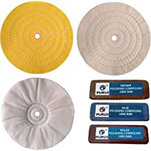 10 Blue Airway Buffing Wheel,5//8 Arbor Hole,16 Plys//Coarse Polishing for Angle Grinder,1PC