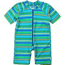 5085173634 HUANQIUE Baby/Toddler Boy Swimsuit Long Sleeve One-Piece Swimwear Rashguard.  KWD 8. i play. Baby One-Piece Swim Sunsuit | All-day UPF 50+