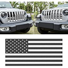 IBACP 2007-2017 Jeep Wrangler JK Black Mesh Grille Inserts Front Mesh Grill Grid Inserts Net Flag