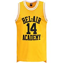 ed68c40b660 MOLPE Smith #14 Bel Air Academy Yellow Basketball Jersey S-XXXL, 90S Hip