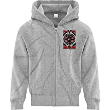 BSW Youth Boys Biohazard Grunge Paint Splatter Biological CDC Circle Zip Hoodie