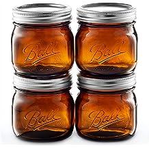 + SEWANTA Jar Opener 6 Pack 16 oz//Pint capacity Ball Wide Mouth Mason Jars Microwave /& Dishwasher Safe