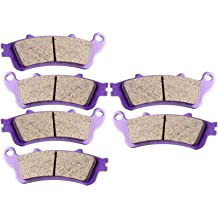 Carbon Fiber Brake Pads Lefossi Motorcycle Replacement Front and Rear Braking Pads Kits Set for HONDA 1800 GL1800 GL1800A GL1800B ABS GOLDWING 2001-2015 VFR 800 A Fi ST 1300 CBR 1100 VTX 1800 FA261FR