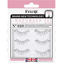 828d44f3c31 Eylure Naturals False Eyelashes Multipack, Style No. 020, Reusable, Adhesive  Included,