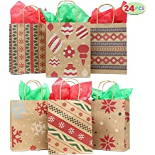 Godmorn 30PCS Holiday Treat Bags Christmas Gift Bags 4 Sizes Christmas Party Favor Pouch Goody Bags with Ribbon Ties for Xmas Birthday Party Holiday Gifts Christmas Gift Wrapping Bags