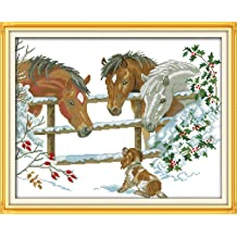 WHITE CaptainCrafts Hots Cross Stitch Kits Patterns Embroidery Kit Lovely Pigs