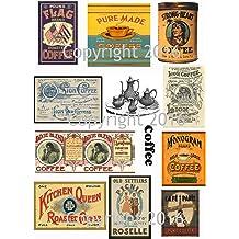 Collage Decoupage Assorted Vintage Ephemera #102 Vintage Label Images on Collage Sheet for Photo Art Scrapbooking