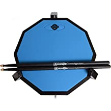 PaintedBexi Rubber Professional Dumb Drum Practice Pad with Lightweight /&Adjustable Case Musical Instrument /Excluding Standing Tripod Multicolor Blue