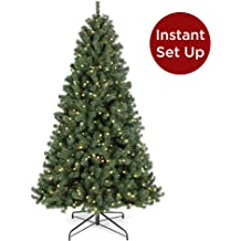 Best Choice Products 6ft Pre-Lit Snow Flocked Hinged Artificial Christmas Pine Tree Holiday Decor with 250 Warm White Lights