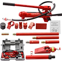 Bottle Jack Ram 10 Ton Capacity Porta Power Hydraulic Pump Auto Body Frame Repair Tool Kit Power Set Auto Tool for Automotive Truck Farm and Heavy Equipment//Construction Skroutz