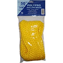 Yellow T.W T.W Evans Cordage 27-601 1//2-Inch by 250-Feet Hollow Braid Polypro Rope Evans Cordage Co.