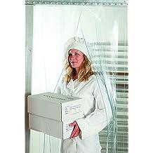 Strips with 25/% Overlap Commercial Industrial Door PVC Vinyl Plastic Strip Curtain Door Kit Clear Smooth 8 in Width x 120 in. 132x120-132 in. 11 ft 10 ft Height