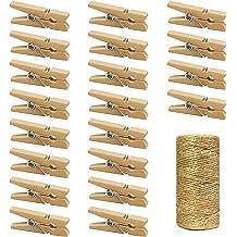 144pcs, Blue, Light Pink, Black Just Artifacts 2-inch Glitter Craft Wood Clothespins//Peg Pins
