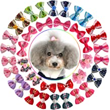 POPETPOP 12Pcs Dog Collar Flowers,Cat Collar Accessories Pet Bow Tie Flower Collars for Puppy Cat Collar Grooming Accessories