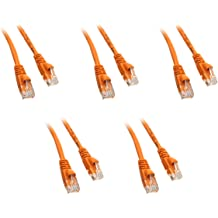 CNE17199 Snagless//Molded Boot 3 Feet Gray 5 Pack Cat5e Ethernet Patch Cable