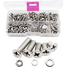 Mcbazel DIN7985 Stainless Steel M3 5mm 6mm 8mm 10mm 12mm 14mm 16mm 18mm 20mm Philips Pan Head Screws Nuts Kit 340 pcs