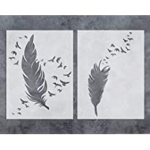 Crafters Workshop TCW6X6-268S Template Peacock Feathers 6 by 6-Inch